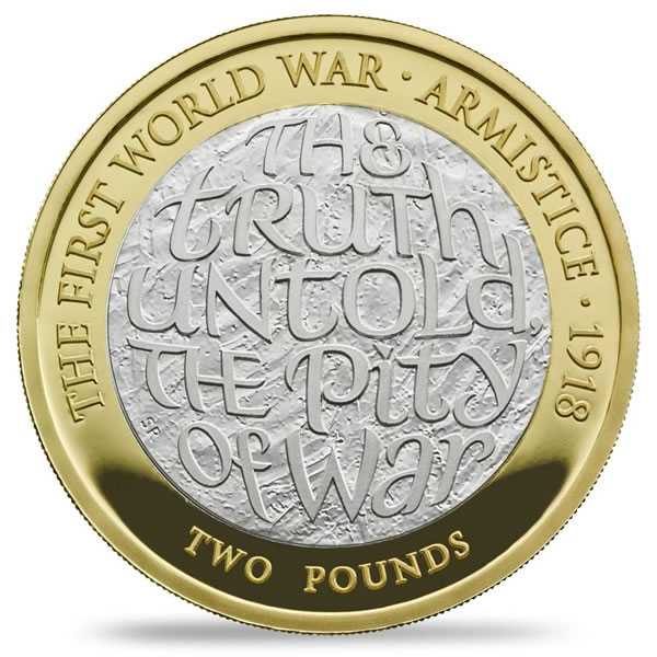 Armistice 2018 Commemorative Coin - Wilfred Owen