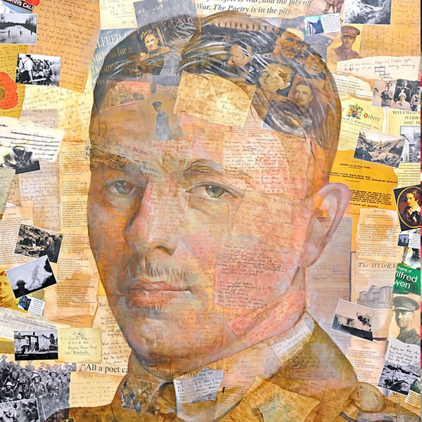 Anthony and Lorraine Brown's portrait of Wilfred Owen goes on display at Liverpool Cathedral