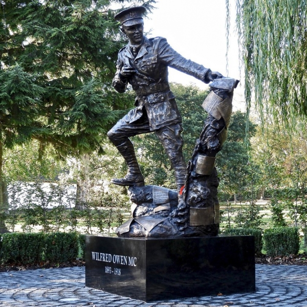 New Wilfred Owen statue in Oswestry