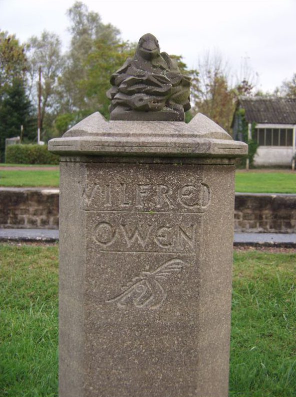 Memorial to Wilfred Owen at Gailly