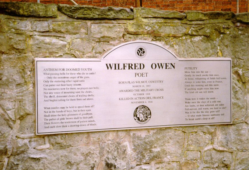 Oswestry Memorial Text