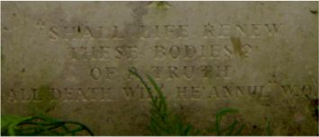 The epitaph on Wilfred�s grave